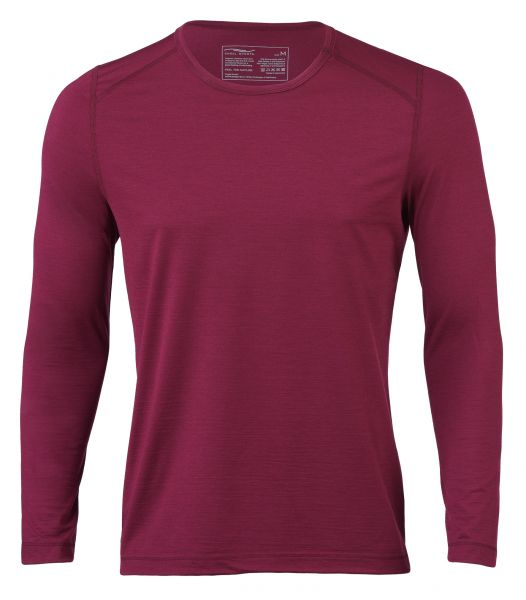 Herren Shirt langarm, Regular fit tango red