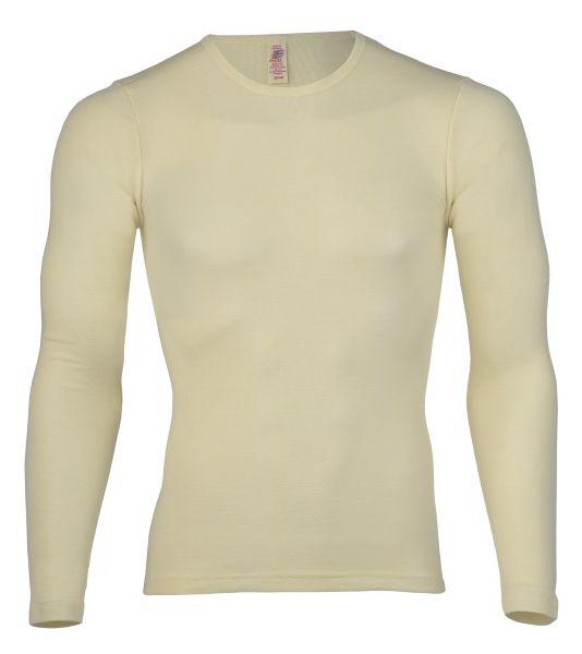 Damen-Shirt langarm, Feinripp natur